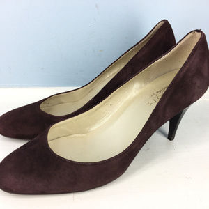 Talbots brown 9 Heels Pumps Career Cocktail Round